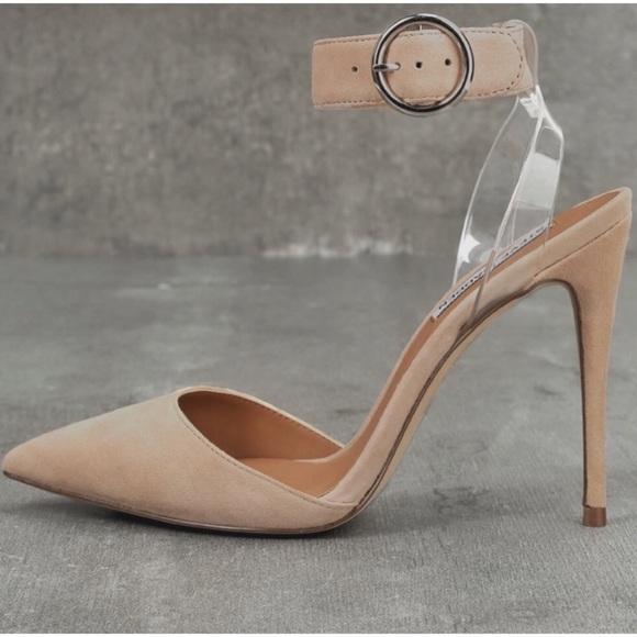 f14737f2df7 Steve Madden Shoes - Steven Madden Diva Nude Blush Suede Leather Heels